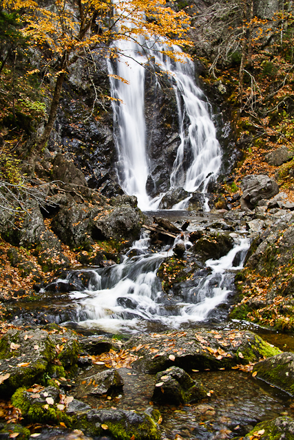 Third Vault Falls with autumn foliage, Fundy National Park, Canada